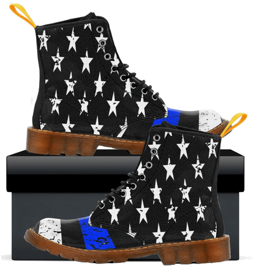 Thin Blue Line - Mens Canvas Boots