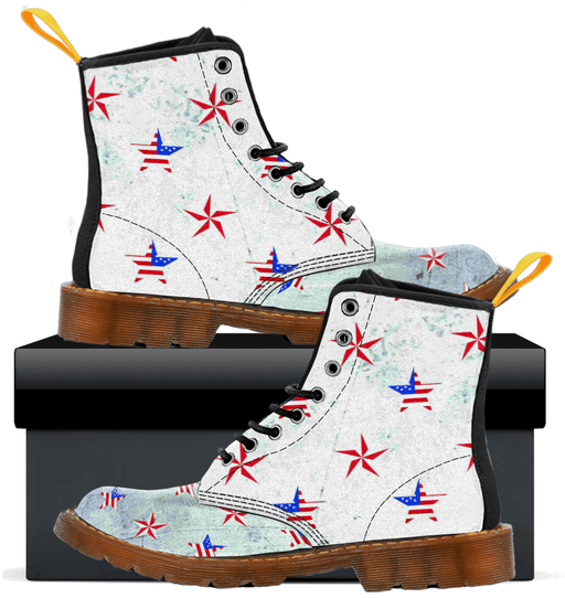Patriotic Stars  - Kids Canvas Boots - AvailableGift.com