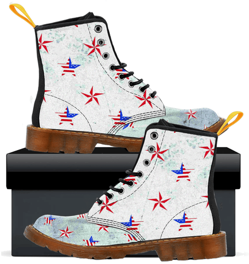 Patriotic Stars  - Mens Canvas Boots - AvailableGift.com