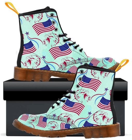 Patriotic Eagle Flag - Mens Canvas Boots - AvailableGift.com