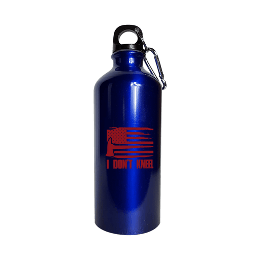 I Don't Kneel - Water Bottle Metallic Blue - AvailableGift.com