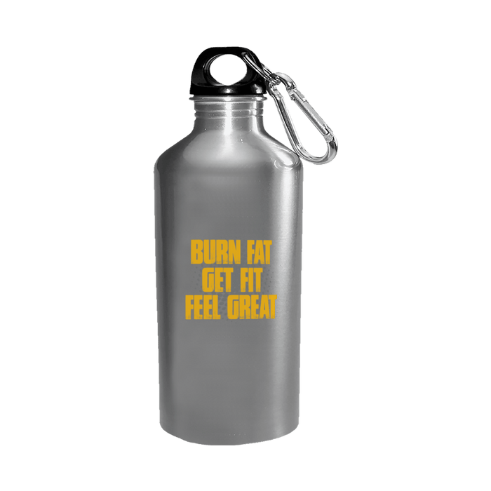 Burn Fat, Get Fit, Feel Great - Water Bottle Stainless - AvailableGift.com