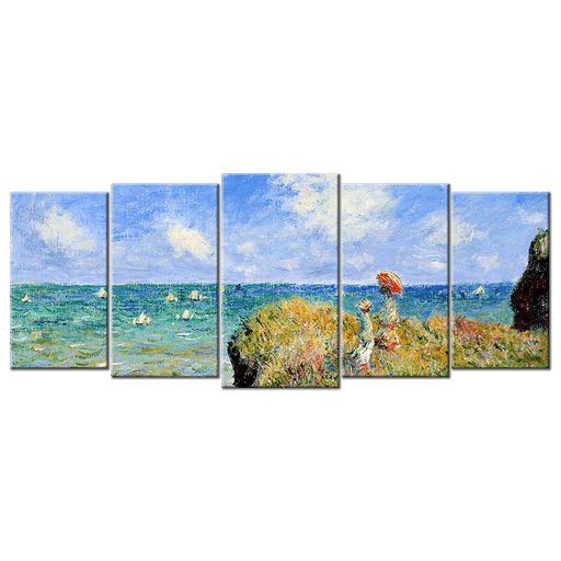 Monet Oil Painting Stock Photo 01 - 5 panels L - AvailableGift.com