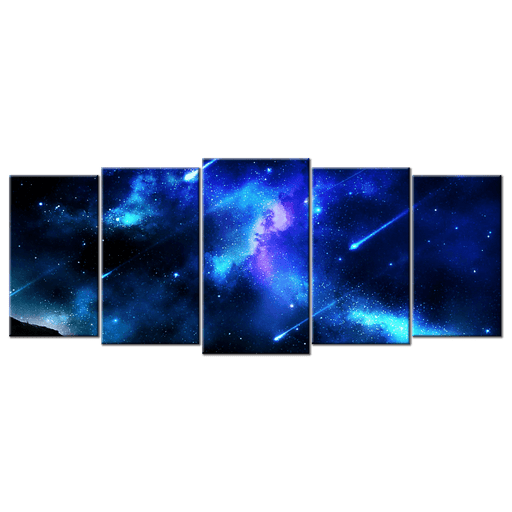 Blue Meteor Shower - 5 Panels L - AvailableGift.com