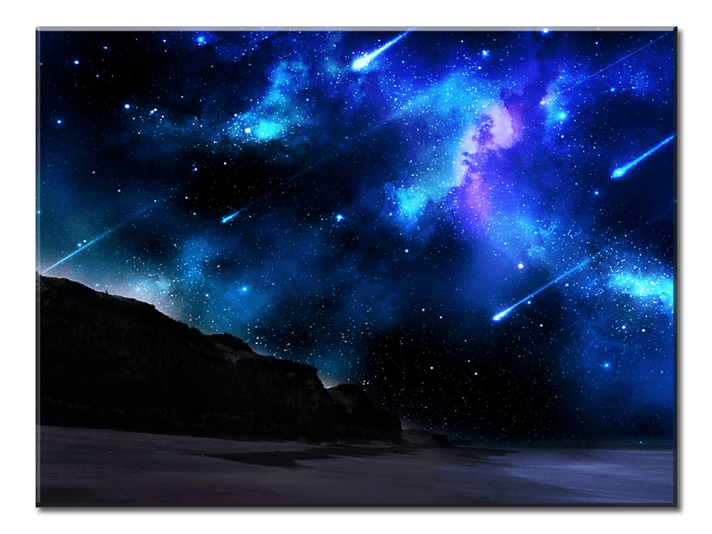 Blue Meteor Shower - 1 Panel XL - AvailableGift.com