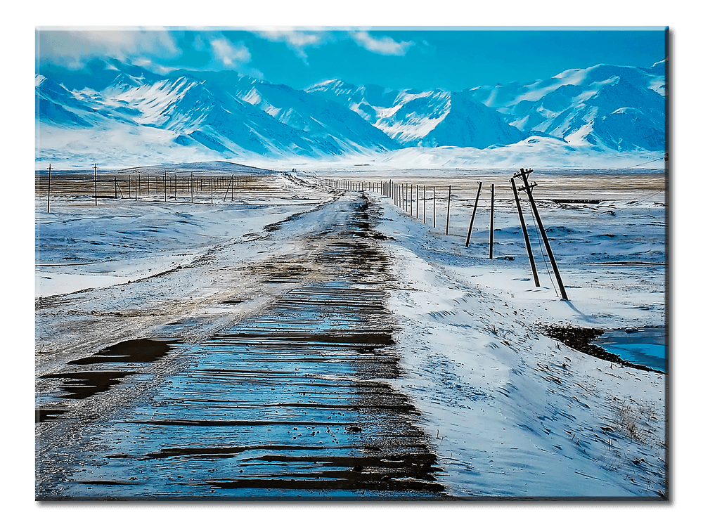 Mountains Covered With Ice - 1 Panel L - AvailableGift.com