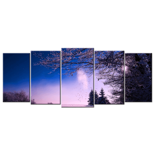 Purple Trees During Winter - 5 Panels L - AvailableGift.com