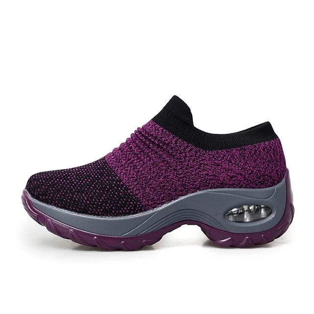 Women's Breathable Work and Leisure Footwear with Air Cushioning