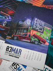 2021 Cooled Collective 80s Retro Calendar with Toyo Tires