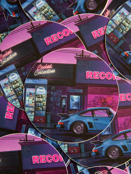 Retro Summer Nights Sticker