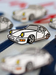 White 964 Enamel Pin