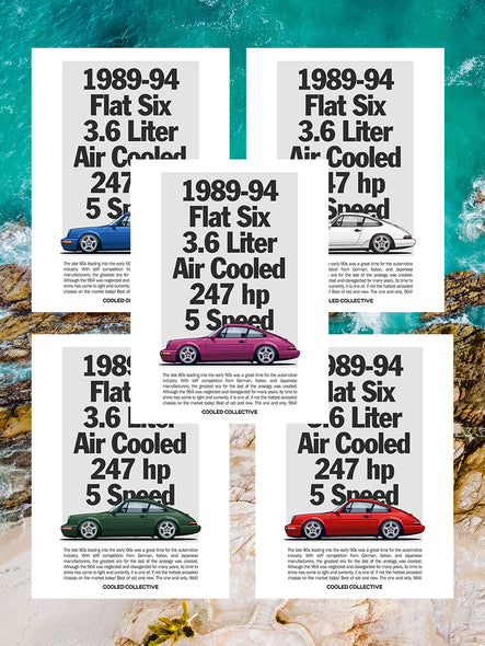 964 Illustrated Spec Poster