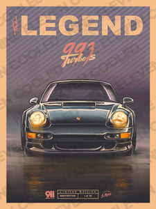 "993 Turbo S ""Legend"" Poster Collab with Andrew Mytro"