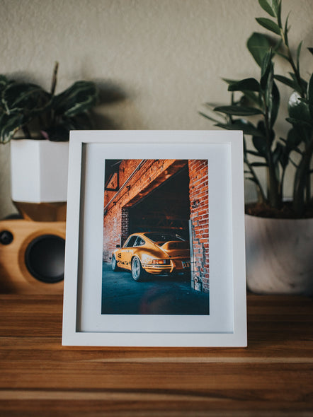 8x10 Print - Golden Long Hood against Bricks