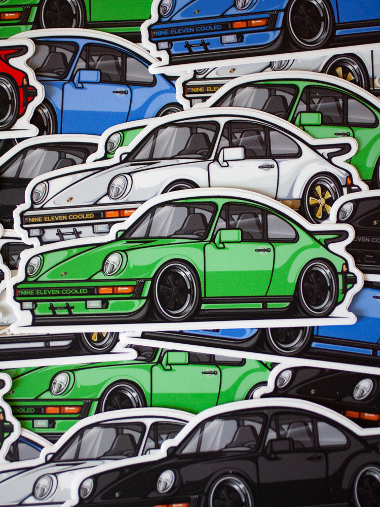 911SC Die Cut Sticker [Collab 911c + Chibimotors]