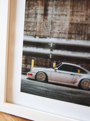 8x10 Print - Linen Grey bagged on Gold Wheels