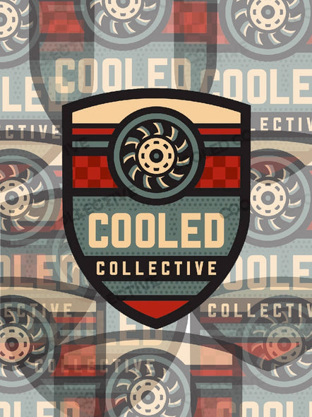 Cooled Collective Aircooled Shield Decal