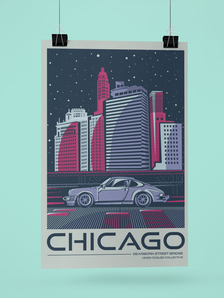 City of Chicago - Dearborn Bridge Poster