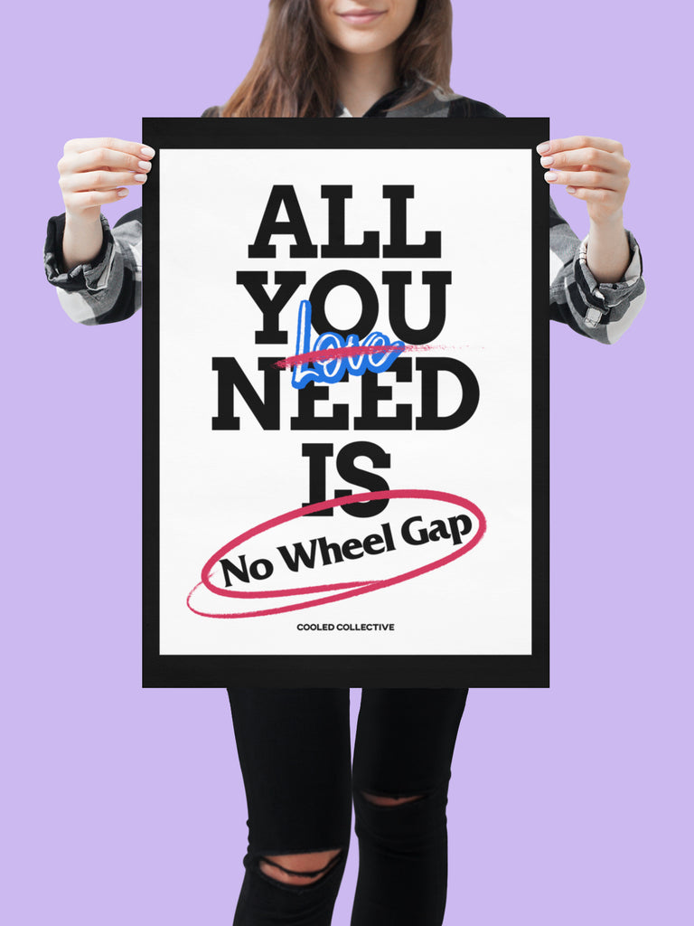 "All you need is No Wheel Gap - 18x24"" Poster"