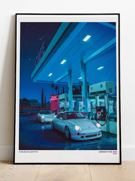 Retro #2 Midnight Fuel Run Poster (Limited)