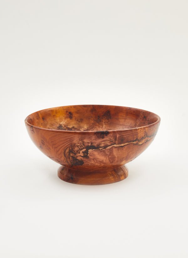 Polished Burl Wood Bowl