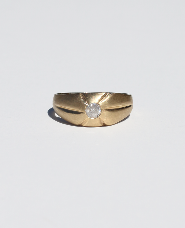 14k Domed Diamond Band