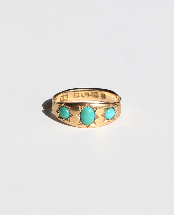 18k Turquoise Gypsy Ring