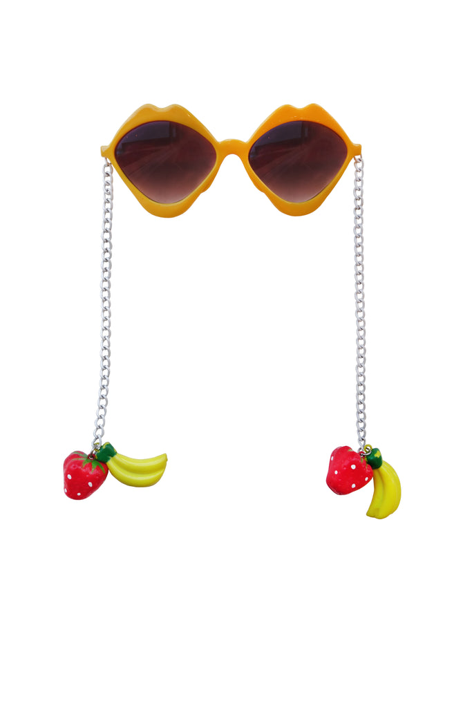 60's Sunglasses with Fruit Chain