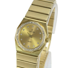 Load image into Gallery viewer, Concord Ladies Solid 14K Yellow Gold Champagne Diamond Dial Diamond Bezel 23mm - Time Keepers Vault