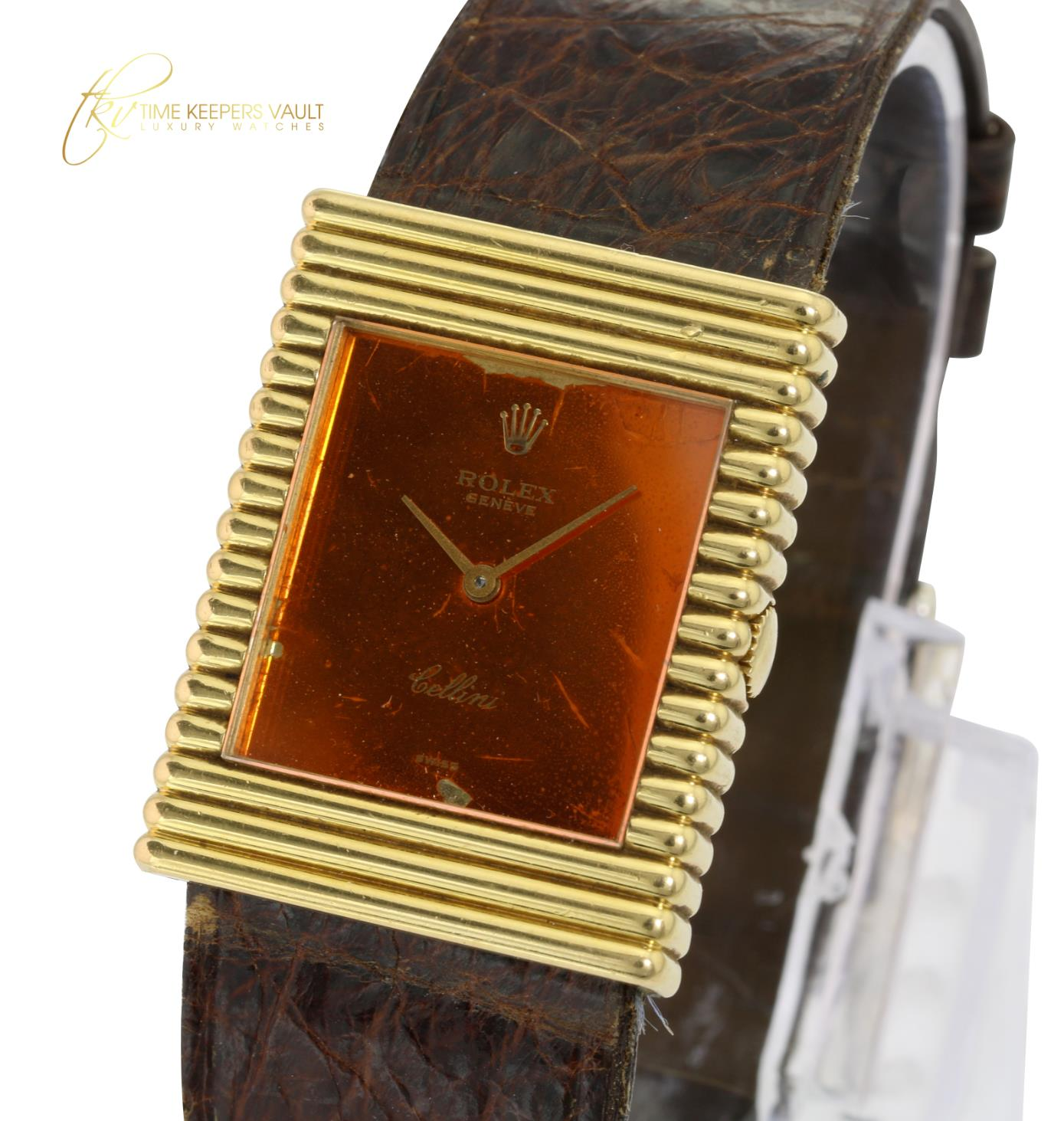 Factory Rolex Cellini 18K Solid Gold  Vintage Swiss Manual Winding Watch