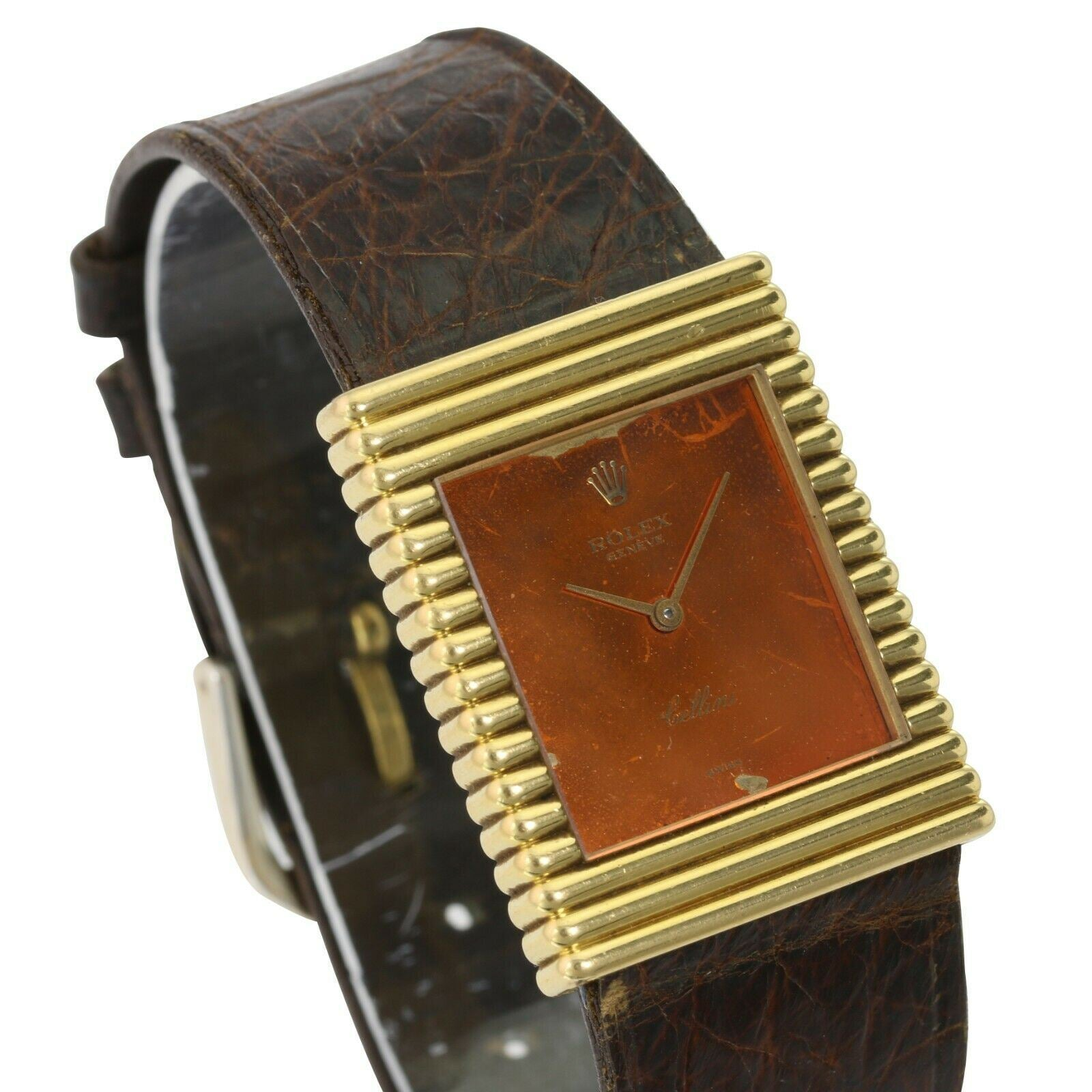 Factory Rolex Cellini 18K Solid Gold  Vintage Swiss Manual Winding Watch - Time Keepers Vault