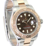 Rolex Watch Mens Yacht-Master 116621 40 Steel & Rose Gold Brown Chocolate Dial - Time Keepers Vault
