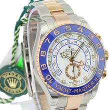 Load image into Gallery viewer, Rolex Watch Yacht-Master II 116681 White & BLue Dial 18k Rose Gold & Steel  44mm - Time Keepers Vault