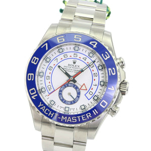 Rolex Watch Yacht-Master II 116680 Stainless Steel 44mm Blue /White Face-Unworn - Time Keepers Vault