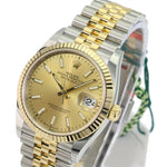 Unworn Rolex Factory Men's 36mm Datejust 126233 Steel & 18K Gold Champagne Index Dial -Unworn - Time Keepers Vault