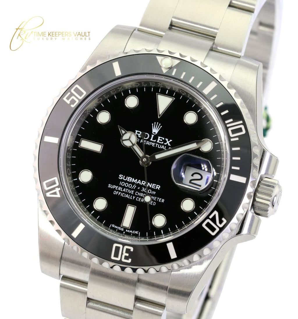 Rolex Watch Men's Submariner 116610LN Stainless Steel Black Face 40mm-UNWORN - Time Keepers Vault