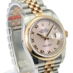 Unworn Rolex Datejust 36mm 116201 Women's Stainless Steel Automatic Rose Roman - Time Keepers Vault