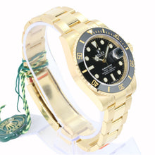 Load image into Gallery viewer, Rolex Men's Watch 40mm Submariner 116618 LN 18k Yellow Gold Black Dial -Unworn - Time Keepers Vault