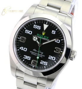 Rolex Watch Mens Air-King 116900 Stainless Steel Black Dial 40mm Oyster Band-NEW - Time Keepers Vault