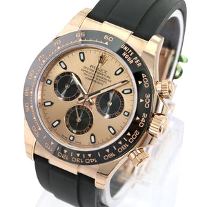 Unworn Rolex Factory Men's 40mm Daytona 116518 LN 18K Gold Oysterflex Bracelet Champagne-Unworn - Time Keepers Vault