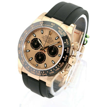 Load image into Gallery viewer, Unworn Rolex Factory Men's 40mm Daytona 116518 LN 18K Gold Oysterflex Bracelet Champagne-Unworn - Time Keepers Vault