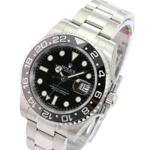 Rolex Watch Men's GMT Master II 116710 Steel Black Ceramic Insert 40mm-UNWORN - Time Keepers Vault