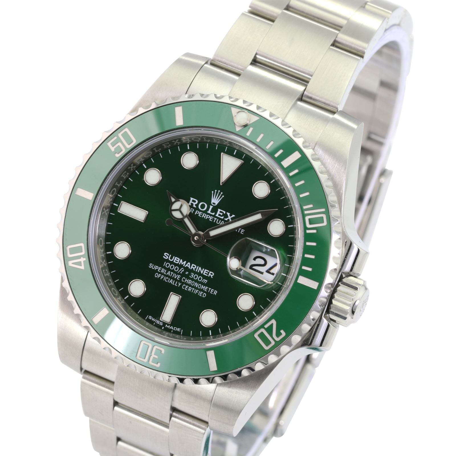 Rolex Submariner 116610V 'Hulk' Steel Ceramic Green on Green Automatic-UNWORN - Time Keepers Vault
