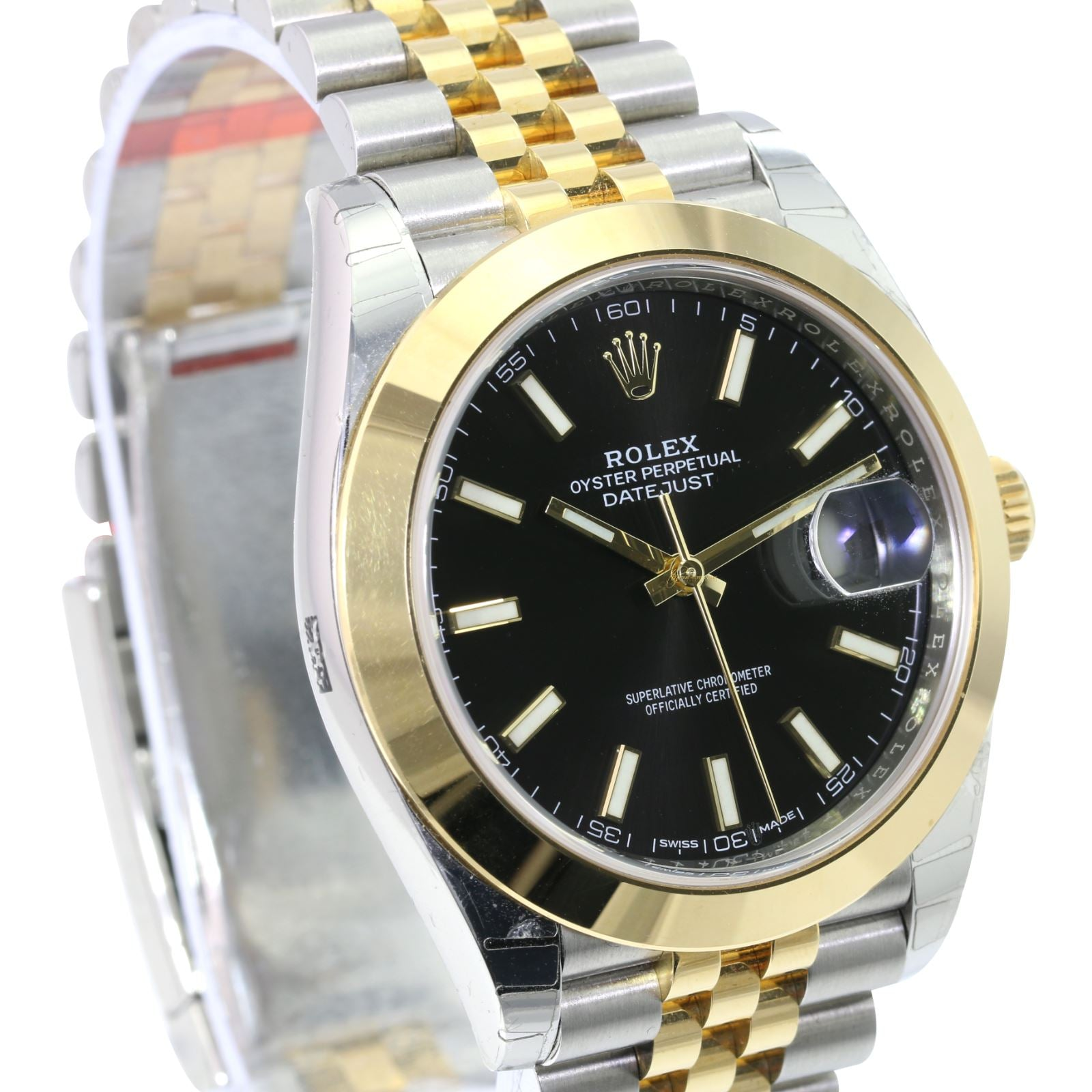 Unworn Rolex Factory Datejust 41mm 126303 Black Index Dial Smooth Bezel Jubilee Band - Time Keepers Vault