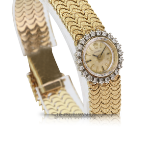 Vintage Rolex Ladies 14k Yellow Gold w Diamond Watch - Time Keepers Vault