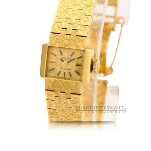Authentic Vintage Ladies Rolex Precision 18K Yellow Gold Watch - Time Keepers Vault
