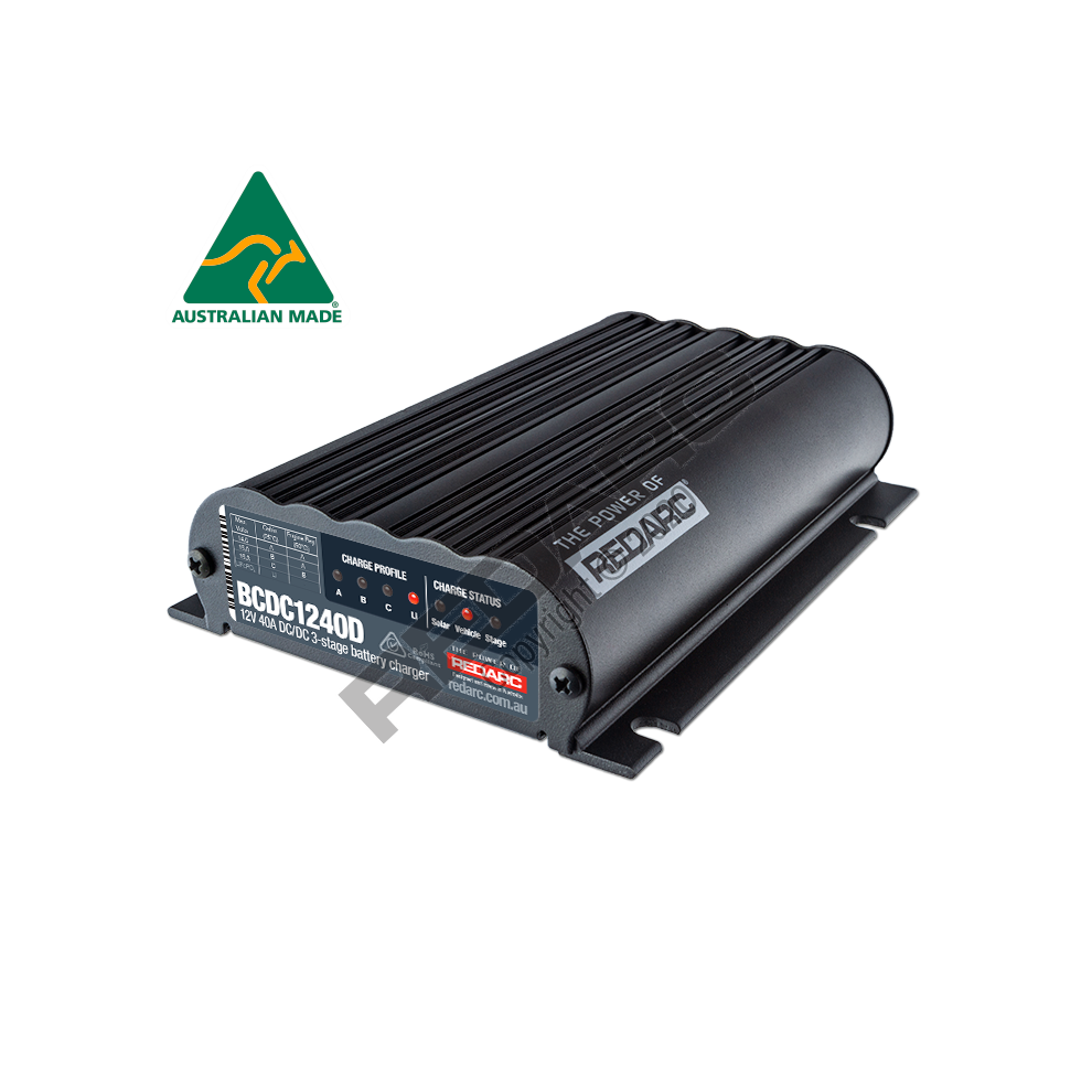 Redarc DUAL INPUT 40A IN-VEHICLE DC BATTERY CHARGER