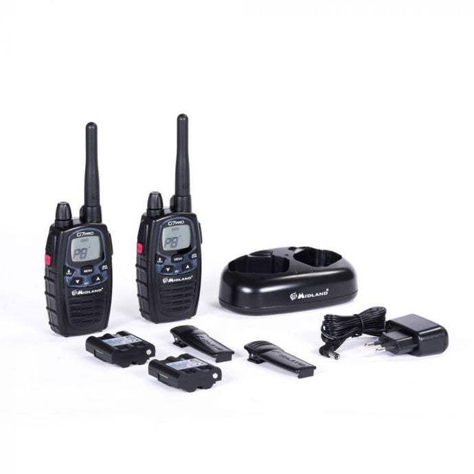 UHF Midland G7 Pro twin set with twin charger 3w output - Handheld