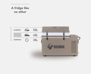 BUSHMAN 35L – 52L Extension Kit Original Bushman Fridge
