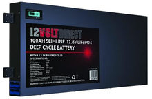 Load image into Gallery viewer, 100AH Slimline Lithium Deep Cycle Battery